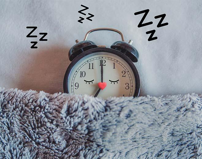 sleeping alarm clock